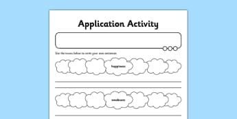 Application Activity Sheet Forming Nouns using ness - GPS, spelling, grammar, nouns, verbs, suffixes, ness, worksheet