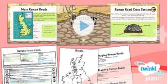 PlanIt - History LKS2 - Romans Lesson 2: Roman Roads Lesson Pack