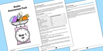 Year 1 Maths Assessment Overview - maths, numeracy, assessments