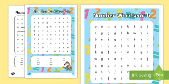 Writing Numbers Word Search - numbers to ten, home learning, homework, worksheet, wordsearch