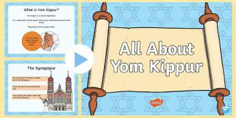 EYFS All about Yom Kippur PowerPoint - Judaism, Jewish, Hebrew, Atonement, Celebration