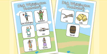 Dick Whittington Vocabulary Poster - posters, displays, display