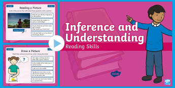 Year 1 Autumn Term Inference and Understanding Reading Skills PowerPoint - infer, thinking, deduction, starter, filler, warm-up,
