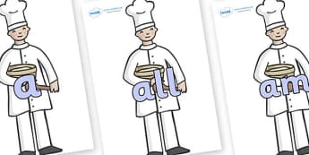 Foundation Stage 2 Keywords on Bakers - FS2, CLL, keywords, Communication language and literacy,  Display, Key words, high frequency words, foundation stage literacy, DfES Letters and Sounds, Letters and Sounds, spelling