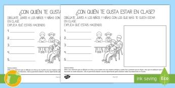 Relaciones sociales en la clase de infantil - sociograma, relaciones sociales en la clase, relaciones en clase