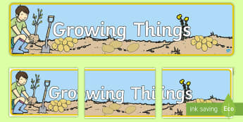 Growing Things Themed Banner  - Growing Things Themed Banner - grow, growth, header, abnner, grwoing, garden, gardening, outside,dis