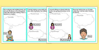 Other Peoples Feelings Thought Cards - feelings, thought, cards