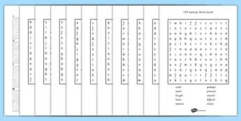 Year 3-4 Statutory Spelling List Wordsearch Pack - wordsearch