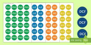 Foundation Phase Areas of Learning Stickers - stickers, Sticker, Foundation Phase, foundation phase, DCF, digital competence, Digital Competence,