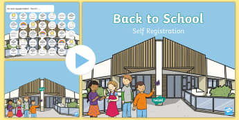 Foundation Phase Back to School Self-Registration PowerPoint - back to school, welsh, oracy, self registration, welsh, welsh powerpoint,Welsh