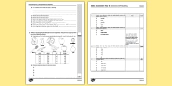 Year Three Statistics and Probability Assessment Pack