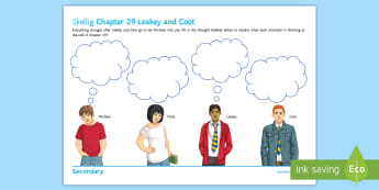 Chapter 29 - Leakey and Coot Activity Sheet to Support Teaching on 'Skellig' by David Almond - Skellig, David Almond, Michael, Mina, KS3 Literature, KS3 Novel, Low Ability Reading, Year 7 Novel,