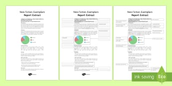 Report Exemplar Resource Pack - General Secondary English Resources, non-fiction texts, exemplars, report.