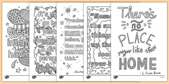 Mindfulness Quotes Colouring Sheets - mindfulness, quotes, colouring, sheets