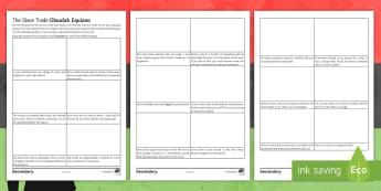 Olaudah Equiano's Journey Activity Sheet - slave trade, black history month, abolitionist, oladuah equiano, plantations, worksheet