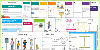KS1 Teach Outside the Box - Innovative End of Term Activity Pack - challenge, logic, team, cooperate, wonder