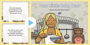 Poor Little Baby Bear Song PowerPoint