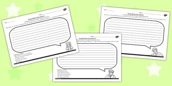 The Secret Garden Thought Bubble Worksheets Pack - worksheet