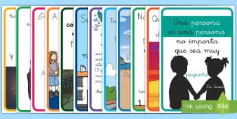 Pack de exposición; Pósters DIN A4 - Frases literarias - pack, recursos, frases, citas, literarias, frase, motivación, decoración, decorar, exponer, exposi
