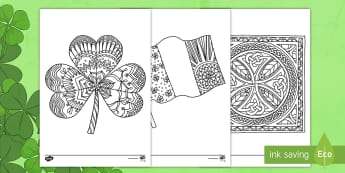 St Patrick's Day Shamrock Mindfulness Colouring Sheet - Mindfulness Colouring, St Patrick's Day, Saint Patrick's Day