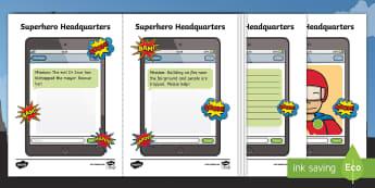 Superhero Headquarters Tablet Activity - Marvel, DC Comics, Spider Man, Super Man, Wonder Woman, Super Girl