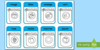 Jam Jar Colouring Sheet French - couleurs, colors, jam jar, pots de confiture, colouring, colour