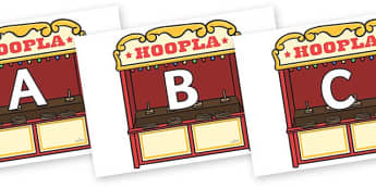 A-Z Alphabet on Hoopla Stands - A-Z, A4, display, Alphabet frieze, Display letters, Letter posters, A-Z letters, Alphabet flashcards