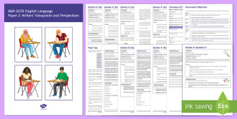 AQA English Language P2 GCSE Exam Revision Booklet - English language GCSE Exam Papers, Paper 2, P2, AQA GCSE, AQA, exam revision, revision guide, practi