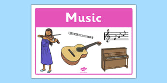 Music Classroom Area Sign - gaeilge, roi, irish, area, sign, classroom, display, music