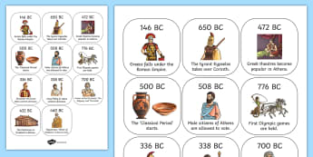 Ancient Greece Timeline Ordering Activity - Ancient Greeks Resources
