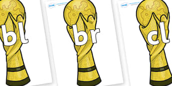 Initial Letter Blends on World Cup Trophy - Initial Letters, initial letter, letter blend, letter blends, consonant, consonants, digraph, trigraph, literacy, alphabet, letters, foundation stage literacy
