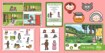 Little Red Riding Hood - Listen and Retell Oral Language Activity Pack - understanding, communicating, exploring, using, speaking, listening, oracy, new language curriculum,