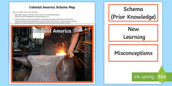 Colonial America Schema Map Display Pack - USA 3-5 Social Studies (History): Colonial America