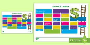 CfE Spelling Board Game - CfE, Literacy, Spelling, Game,Editable, Snakes, Ladders,Scottish