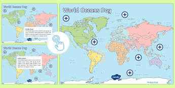 World Oceans Day Oceans of the World Picture Hotspots - CfE World Oceans Day (8th June), Oceans Day, Oceans of the World, Scottish events, June global days,
