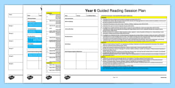 Year 6 Guided Reading Planning Template - guided reading, year 6, literature, literacy, language, comprehension, australian curriculum, readin