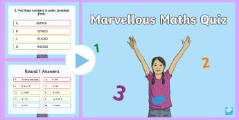 End of Year UKS2 Maths Quiz PowerPoint - numeracy quiz, numeracy maths quiz
