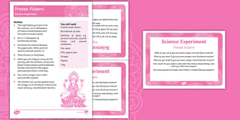 EYFS Frozen Fizzers Science Experiment and Prompt Card Pack