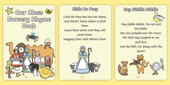 Our Class Nursery Rhyme Book - nursery rhyme, book, all nursery rhymes, rhyme, rhyming, nursery rhyme story, nursery rhymes, display, banner