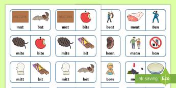 'b' and 'm' Minimal Pair Dominoes - minimal pairs, nasals, denasalisation, m, b, speech sounds