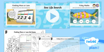 PlanIt Y4 Number and Place Value Lesson Pack Finding More or Lesson (1)  - beyond 1000, different representations, concrete models, fish, ocean, themed maths