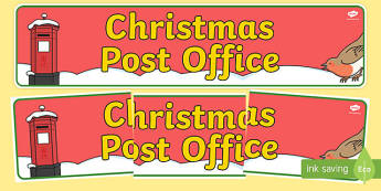 Christmas Post Office Display Banner - christmas post office, christmas, post office