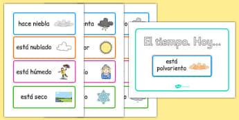 Póster interactivo de exposición de tiempo - tiempo, vocabulario