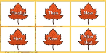 Time Conjunctions on Autumn Leaves - time connectives, autumn