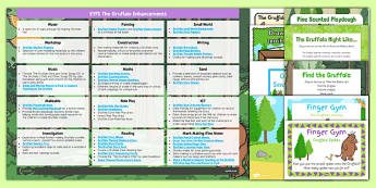EYFS Enhancement Ideas and Resources Pack to Support Teaching on The-Gruffalo - The Gruffalo, continuous provision, pack, planning