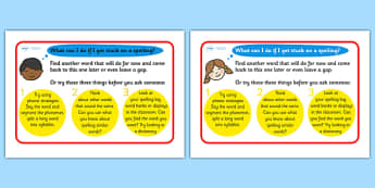 Things I should do Prompt Mat (Phase 6) - Spelling strategies, Phase 6, Phase six, Phonics, DfES Letters and Sounds, familiar word, analogy, sentence, syllable, base word, Letters and sounds