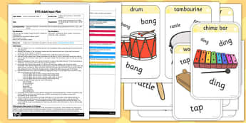 Happy and You Know It Instrument Game EYFS Adult Input Plan and Resource Pack