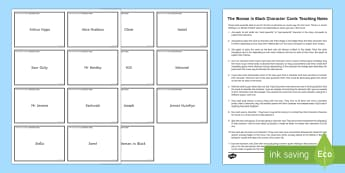 Character Cards to Support Teaching on The Woman in Black. - The Woman in Black