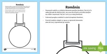Decorează medalia - ziua națională a româniei, românia, ziua națională, 1 decembrie, simboluri, materiale, materia