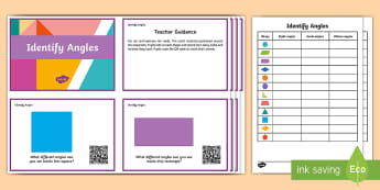 Year 4 Identify Angles Code Hunter - QR Codes, angles, right, obtuse, acute, shapes, year 4, y4, QR